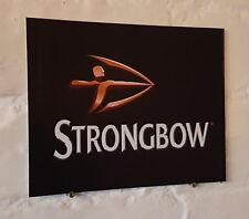 Strongbow Signo de Metal de Aluminio de sidra Retro Vintage Bar Pub Cueva de hombre signos de cerveza