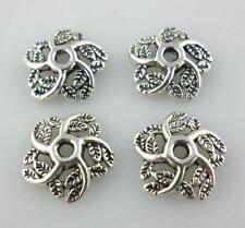 40pcs Tibetan Silver Flowers End Bead Caps Jewelry Beading Making 2.5x10mm