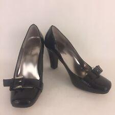 e4dab12c29b Anne Klein Women s Black Patent Leather Pumps Shoes Size 7.5 Medium
