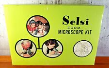 Vintage Selsi Zoom Microscope Kit Model No. 140, Vintage Microscope Toy