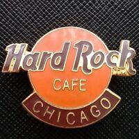 CHICAGO USA - Hard Rock Cafe 1997 - Classic HRC ORANGE & RED or BLACK Logo PIN