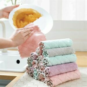 Kitchen Cleaning Cloths Washing Dish Towel Hand Towels Kitchen Absorbent Wipes
