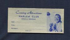 1960's Albert King Unused Concert Ticket Harlem Club Blues Osceola Arkansas