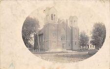 Lanark IL~United Methodist Episcopal Church~Orville Has Pneumonia RPPC c1910