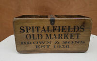 Rustic Antique Vintage Style  SPITALFIELDS Wooden Boxes Crates Decorative