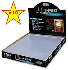 Ultra Pro Current / Silver Age Comic Book Resealable Pocket Binder Pages x 10