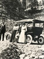 Postcard Lillooet B.C. On The Road With Family Great Picture 1900's   P05