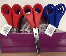 2 Pair Small School Scissors Plastic Handles,Ruler Edge for Children/Kids/Child