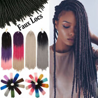 Natural Dread Lock Long Crochet Braiding Braids Faux Locs Sew Hair Extensions