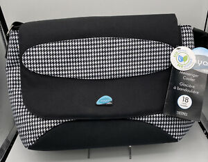 Thermos Raya Lunch Duffle Lunch Bag Tote Insulated Black and White 18 Can NWT