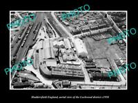 OLD LARGE HISTORIC PHOTO HUDDERSFIELD ENGLAND AERIAL VIEW OF LOCKWOOD c1950