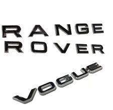 Chrome Black Lettering Range Rover Sport bonnet tailgate letters new style 2014