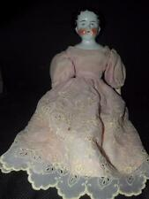 "ANTIQUE CHINA HEAD DOLL 20"" T GERMAN HEAD MARKED ON INTERIOR W/ A ""X"" #7 BACK"