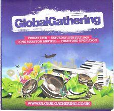 GLOBAL GATHERING 09 Rave Flyer Flyers A5 24-25/7/09 Stratford THE PRODIGY (live)