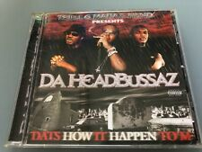 CD: THREE 6 MAFIA & FIEND - Da Headbussaz (2002) Ultra Rare Memphis Rap G-Funk