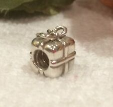 GENUINE PANDORA-PRESENT or GIFT CHARM 790300-STERLING SILVER-STAMPED '925 ALE'