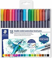 Staedtler Watercolour Brush Pen Dual Tip Set of 18 Free Shipping