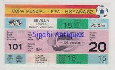 SPAIN 1982 WORLD CUP BRAZIL - SCOTLAND FOOTBALL SOCCER MATCH TICKET