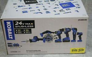 Kobalt 6-Tool 24-Volt Max Brushless Power Tool Combo Kit 2548549