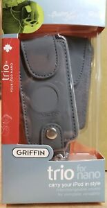 Griffin Trio  3-in-1 Leather Case for iPod Nano 1st and 2nd Gen - Grey