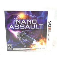 Nano Assault (Nintendo 3DS, 2011) CIB Complete in Box with Manual