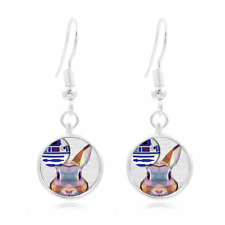 Paranoid Android earrings robot artificial intelligence AI bender
