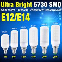 5730 led corn bulb lamp e12 e14 milky cool/warm white 110/220v 7/9/12/25W light