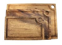 Acacia Natural Wood Bread / Cutting / Chopping / Serving Board with Juice Track