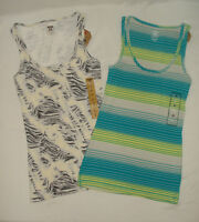Lot of 2 Womens Route 66 Tank Tops Knit Ribbed Sleeveless Large L