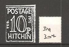 Cinderella -Sm304- Gb Strike Mail - Postage Hitchin - 10p