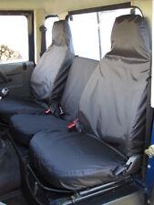 Land Rover Defender 90 110 1983-2007 Set TROIS Housse de siège avant taillé noir