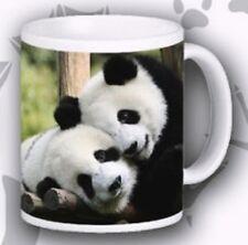 Panda Mug Ceramic Wild Life Photo Pandas Scene Porcelain Mug Hand Decorated UK