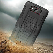 Rugged Armor Hard Cover Case Hybrid Holster For Motorola Droid Ultra/Maxx XT1080
