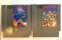 Tetris ~ Dr. Mario ~ Vintage NES Game Lot ~ Nintendo ~
