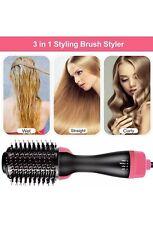 3in1 One Step Hair Blow Dryer/Straightener Hot Air Brush Box **Box damaged**