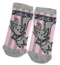 LADIES DISNEY DUMBO THE FLYING ELEPHANT GREY SHOE LINERS SOCKS UK 4-8 USA 6-10