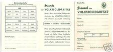 Mitgliedskarte, Freund der Volkssolidarität, blanko, 1950er