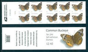 US 4001b Common Buckeye Complete Booklet/10 Mint NH, Free Shipping