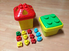 Lego duplo Primo Bausteine 2x Eimer groß klein Sortiereimer + 12 Primo Bauklötze