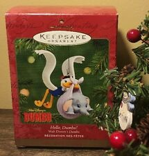 2001 Hallmark Hello Dumbo! Disney Keepsake Christmas Ornament 60th Anniversary