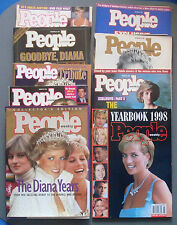 Princess Diana Tribute Collector's People Magazine Series 1997 lot of 9