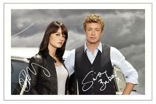 SIMON BARKER & ROBIN TUNNEY THE MENTALIST SIGNED PHOTO PRINT AUTOGRAPH