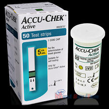 ROCHE Accu-Chek Active Diabetic Blood Sugar Glucose Meter 50 Test Strips 05/2020
