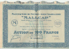 """MANUFACTURE DE FEUTRES POUR CHAPELLERIE """"MALLCAP"""" -  Notre-Dame-du-Thil - Oise"""