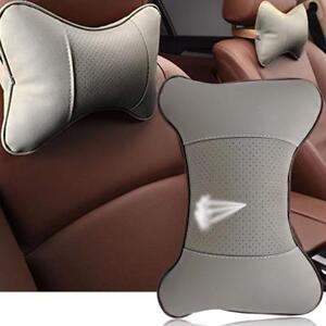 Car Auto Seat Bone Shape Head Rest Pillow PU Leather Cushion Rest Pillow BT