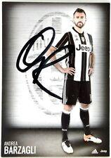Cartoncino Juventus - Andrea Barzagli Autografo Originale