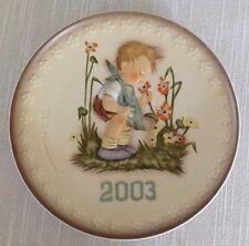 Hummel Annual Plate ~ 2003 The Florist ~ Hummel 924 ~ New