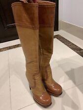 YSL Saint Laurent Tan Leather Boots SZ 37