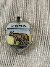 ROMA Silver Travel Shield Enamel Charm