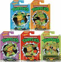 Hot Wheels Nickelodeon Teenage Mutant Ninja Turtles Complete Set of 5